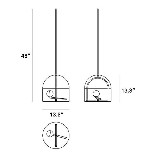 Yanzi LED Suspension Pendant Light