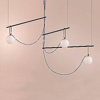 Black/Brass finish / not illuminated