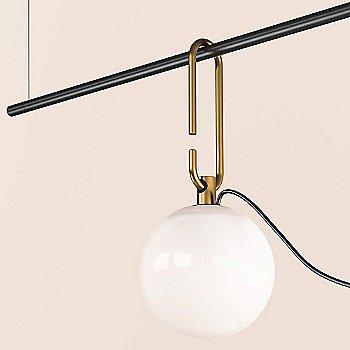 Black/Brass finish / not illuminated / Detail view