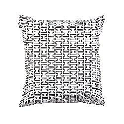 H55 Cotton Pillow Cover (White/Black/Yes) - OPEN BOX RETURN