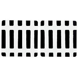 Siena Coasters, 2-Piece Set (White/Black) - OPEN BOX RETURN