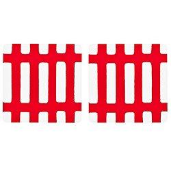 Siena Coasters, 2-Piece Set (Red/White) - OPEN BOX RETURN