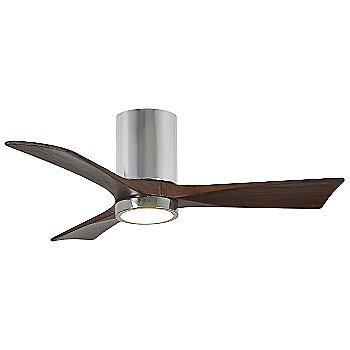 Polished Chrome Fan Body finish / Walnut Blade finish / 42 size