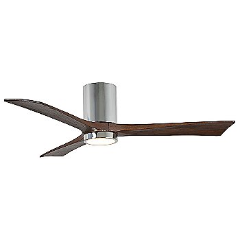 Polished Chrome Fan Body finish / Walnut Blade finish / 52 size