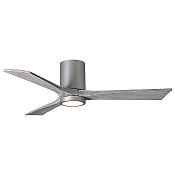 Brushed Nickel Fan Body finish / Barn Wood Blade finish / 52 size