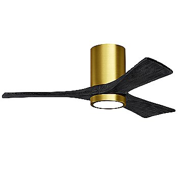 Brushed Brass Fan Body finish / Matte Black Blade finish / 42 size