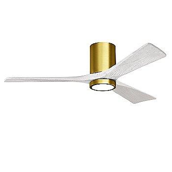 Brushed Brass Fan Body finish / Matte White Blade finish / 52 size
