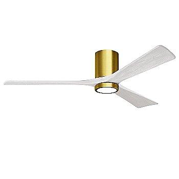 Brushed Brass Fan Body finish / Matte White Blade finish / 60 size
