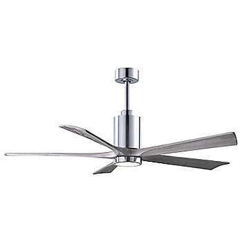 Barn Wood Fan Blade Finish / Brushed Nickel finish without Light cap / 42 Inch / illuminated