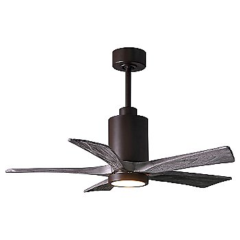 Barn Wood Fan Blade Finish / Brushed Nickel finish with Light cap / 42 Inch