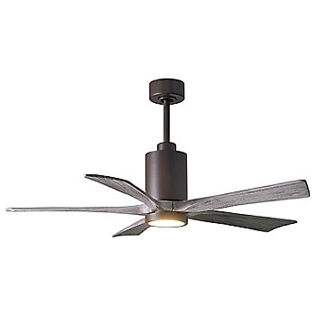 Barn Wood Fan Blade Finish / Brushed Nickel finish with Light cap / 52 Inch / illuminated