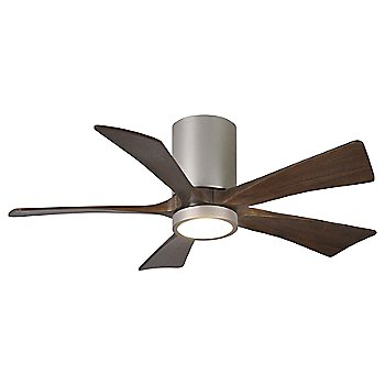 Brushed Nickel finish with Walnut blades / 42 inch with light cap