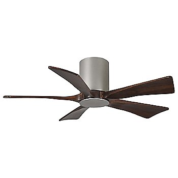 Brushed Nickel finish with Walnut blades / 42 inch without light cap