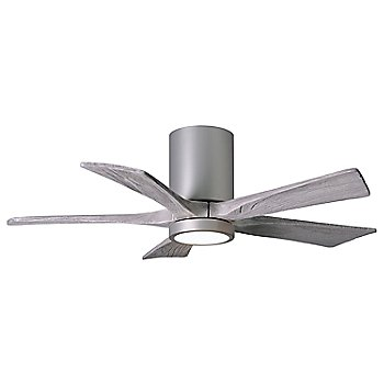 Brushed Nickel finish with Barn blades / 42 inch with light cap