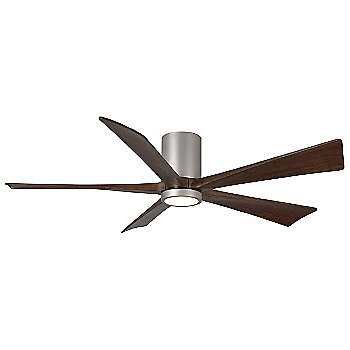 Shown in Brushed Nickel finish with Walnut blades, 60 inch with light cap