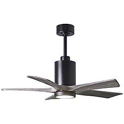 Patricia 5-Blade LED Ceiling Fan (Barn/Black/42 In)-OPEN BOX