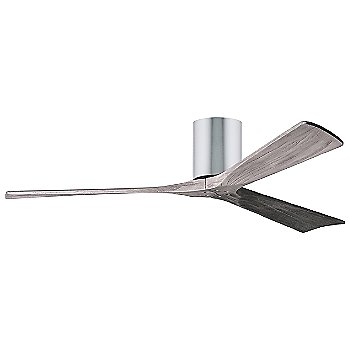 60 Inch / Polished Chrome finish with Barn Wood fan blades finish