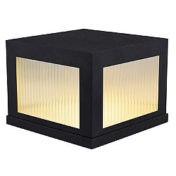 Avenue Outdoor Short LED Post Mount (Black)-OPEN BOX RETURN