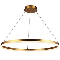 Circa LED Round Pendant (Gold/31 Inch) - OPEN BOX RETURN