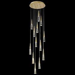 Encino Multi-Light Pendant(Brushed Brass/13 Lights)-OPEN BOX