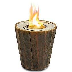 Montauk Reclaimed Wood Tabletop Firepit
