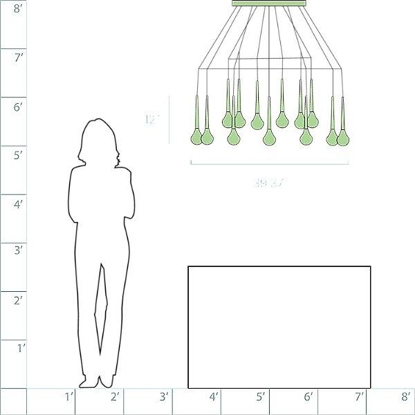 Fairy 18 Light Round Cluster Pendant Light