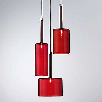 Red shade / Chrome finish / in use