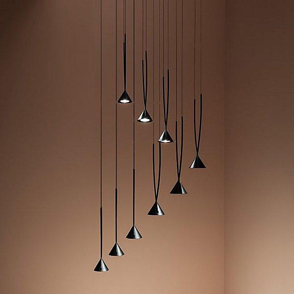 Jewel Round LED Multi Light Pendant Light