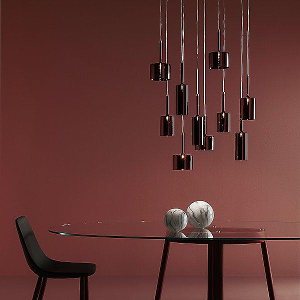 Spillray 10 Light LED Linear Pendant Light