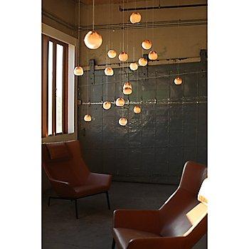 Copper finish / White glass / in use