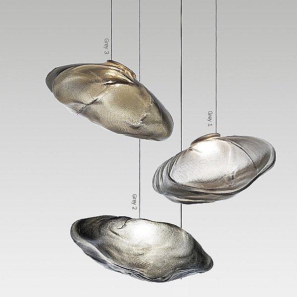 73.8 Grey Multi-Light Pendant Light