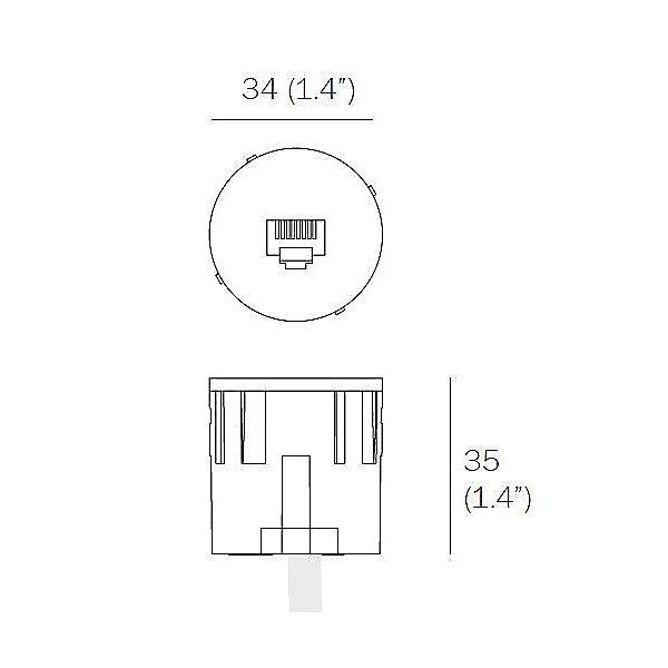 22.3.9 RJ45 CAT6 Data Receptacle