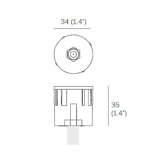 22.3.5 F Connector Cable Receptacle