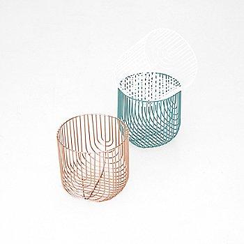 Copper with Aqua and White finish