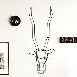 Gazelle Geometric Animal Head