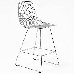 Lucy Counter Stool (Chrome) - OPEN BOX RETURN