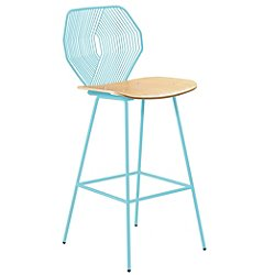 Wood & Wire Stool