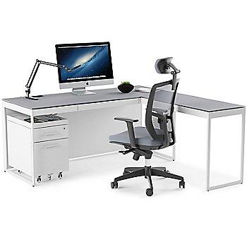 Centro Mobile File Pedestal with Centro Desk