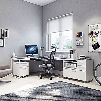 Centro Mobile File Pedestal with Centro Desk and Centro Multifunctional Cabinet