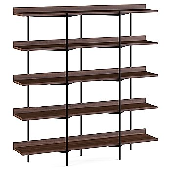 Toasted Walnut Shelves / Black Frame finish / 5 Tier