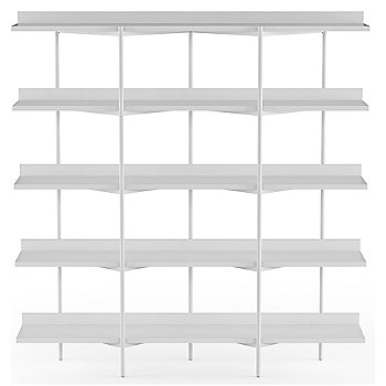 Satin White Shelves / Satin White Frame finish / 5 Tier
