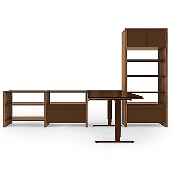Semblance 4-Section with Chocolate Stained Walnut Finish