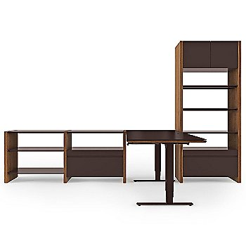 Semblance 4-Section with Espresso Stained Oak Finish