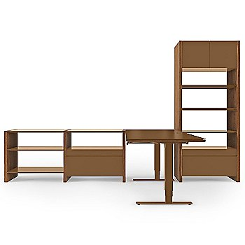 Semblance 4-Section with Natural Walnut Finish