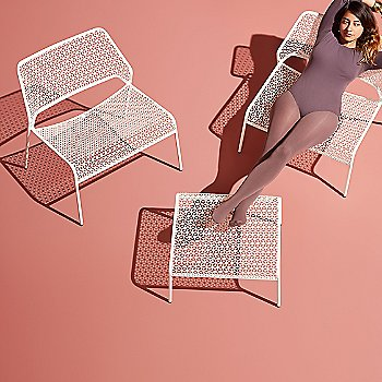 Hot Mesh Ottoman with Mesh Lounge Chair