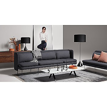Who Goes There? Candle Holder - Shape 2 with Bloke Sofa, Super Rectangular Coffee Table, Clad 4 Drawer Dresser, Flask Table Lamp, Flange Decorative Bowl, Flange Decorative Vessel and Flask Floor Lamp