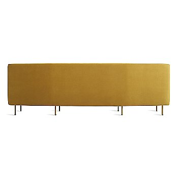 Ochre Velvet color / 107 Inch