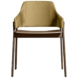 Clutch Dining Chair by Blu Dot (Olive/Smoke)-OPEN BOX RETURN