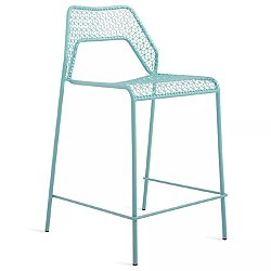 Hot Mesh Counter Stool by Blu Dot (Aqua) - OPEN BOX RETURN