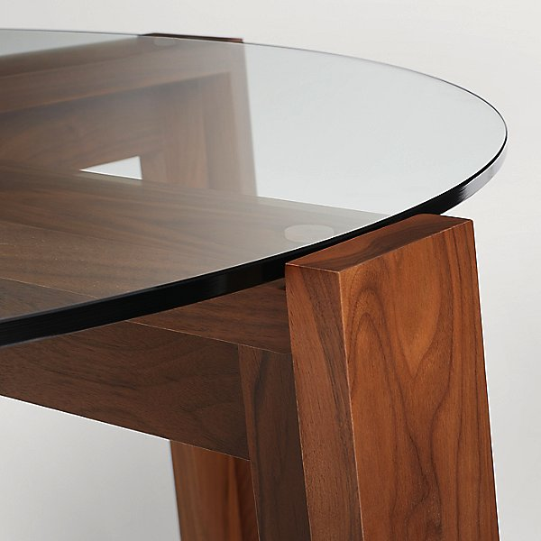 Lake Round Glass Top Dining Table
